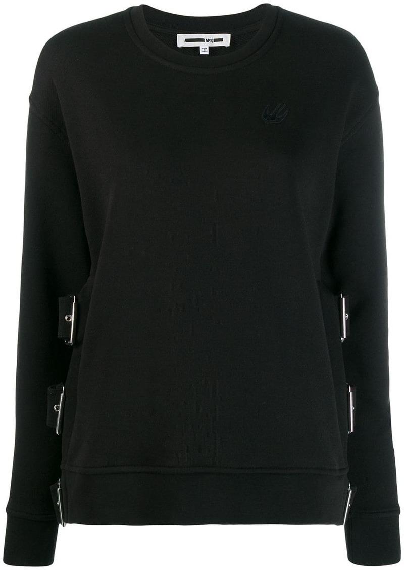 McQ Alexander McQueen buckle strap jumper