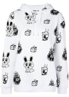 McQ Alexander McQueen bunny printed longsleeved hoodie rawst