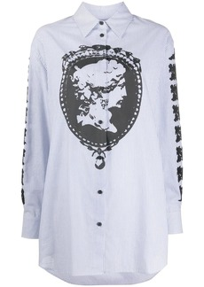 McQ Alexander McQueen cameo print striped shirt