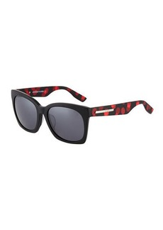 McQ Alexander McQueen Cat Eye Polka-Dot Plastic Sunglasses