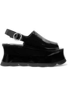 McQ Alexander McQueen Cecily Patent-leather Platform Sandals