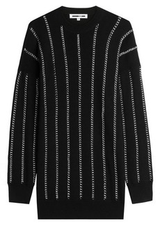 McQ Alexander McQueen Chain Embellished Wool Pullover