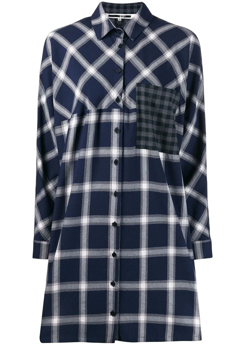 McQ Alexander McQueen check shirt dress