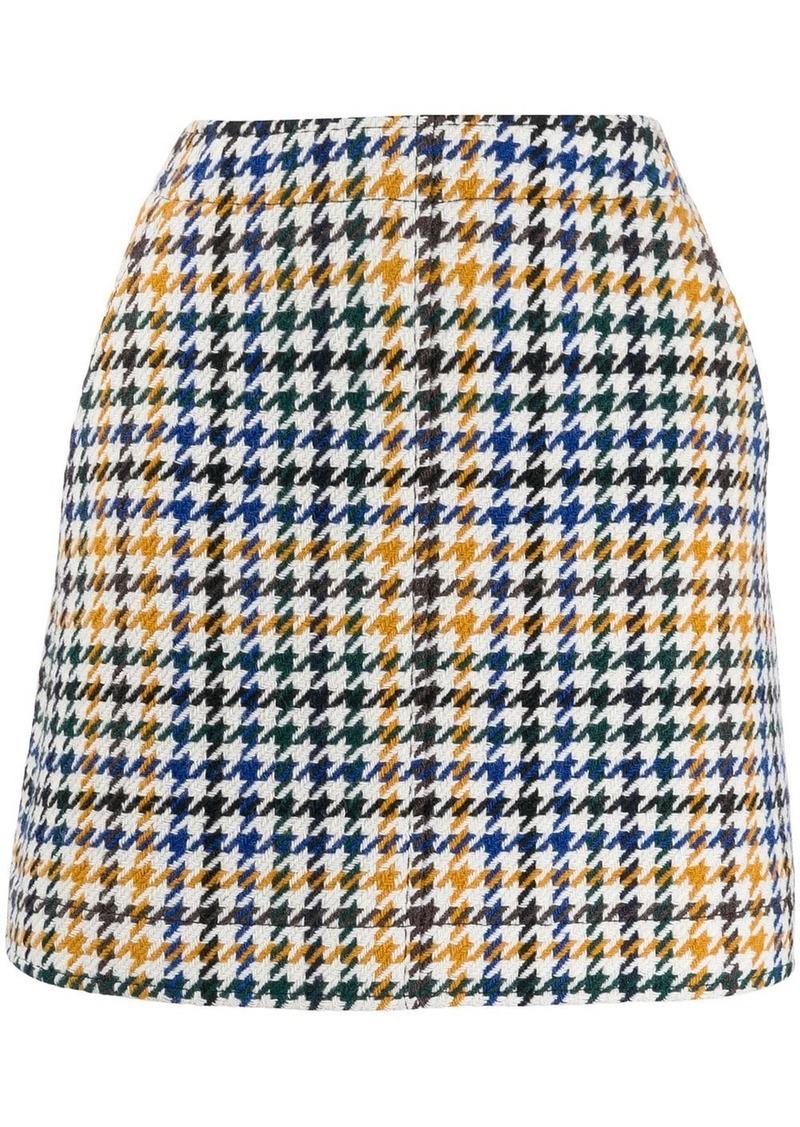 McQ Alexander McQueen check skirt