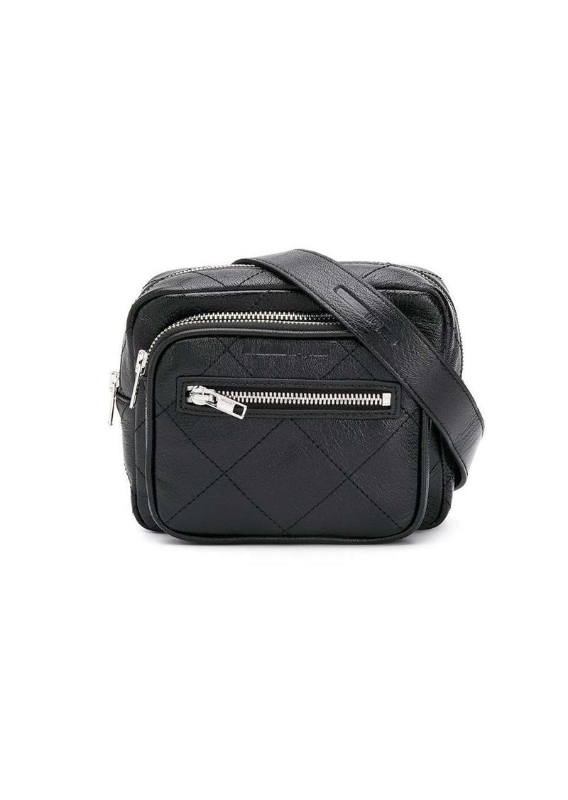 McQ Alexander McQueen check stitch logo belt bag