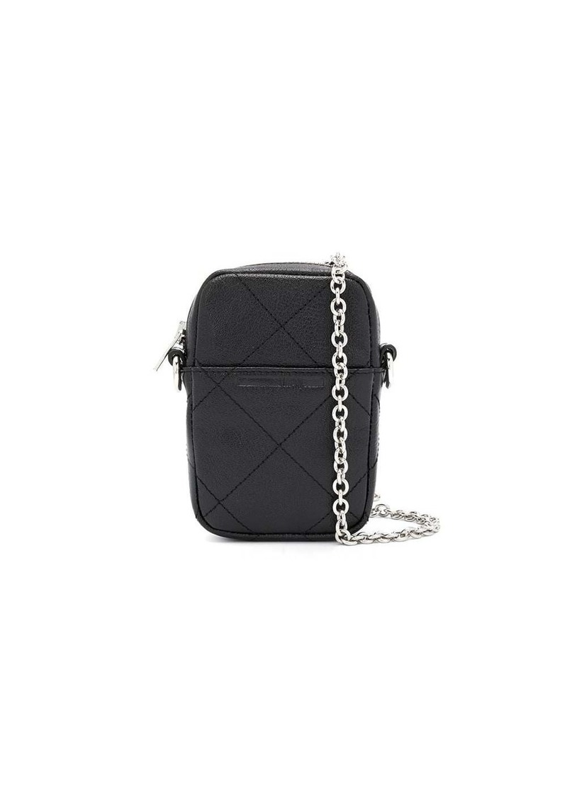 McQ Alexander McQueen check stitch logo crossbody bag