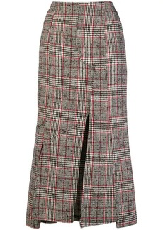 McQ Alexander McQueen checked print fitted skirt