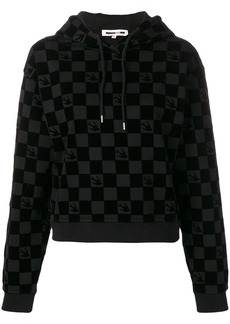 McQ Alexander McQueen checked pull-over hoodie