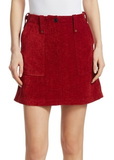McQ Alexander McQueen Chenille A-Line Mini Skirt
