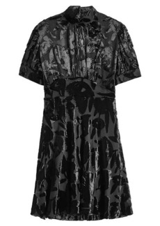 McQ Alexander McQueen Chiffon Dress with Velvet