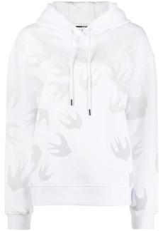 McQ Alexander McQueen Code bird print hoodie