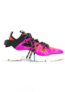 McQ Alexander McQueen colour block lace-up sneakers