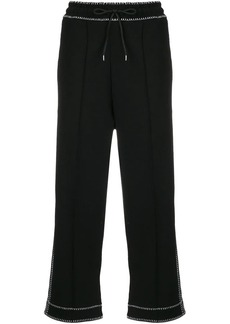 McQ Alexander McQueen contrast cropped track pants