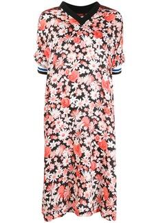 McQ Alexander McQueen contrast print midi-dress