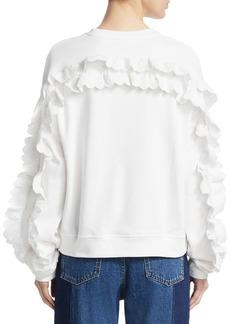 McQ Alexander McQueen Cotton Ruffled Sweatshirt