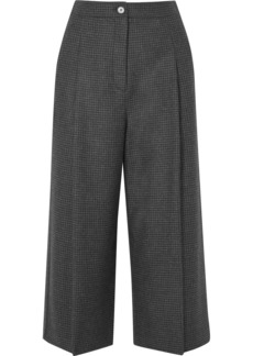 McQ Alexander McQueen Cropped Prince Of Wales Checked Wool Wide-leg Pants