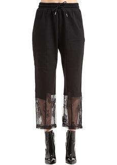 McQ Alexander McQueen Cropped Sweatpants W/ Lace Hem