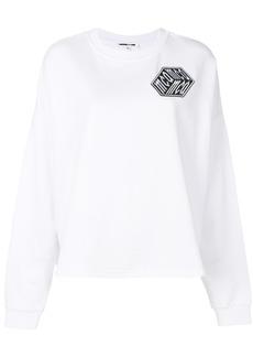 McQ Alexander McQueen cube logo patch sweatshirt