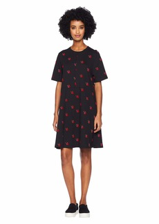 McQ Alexander McQueen Cut Babydoll Dress