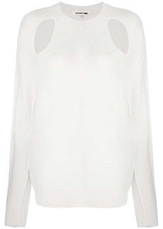McQ Alexander McQueen cut-out detail jumper