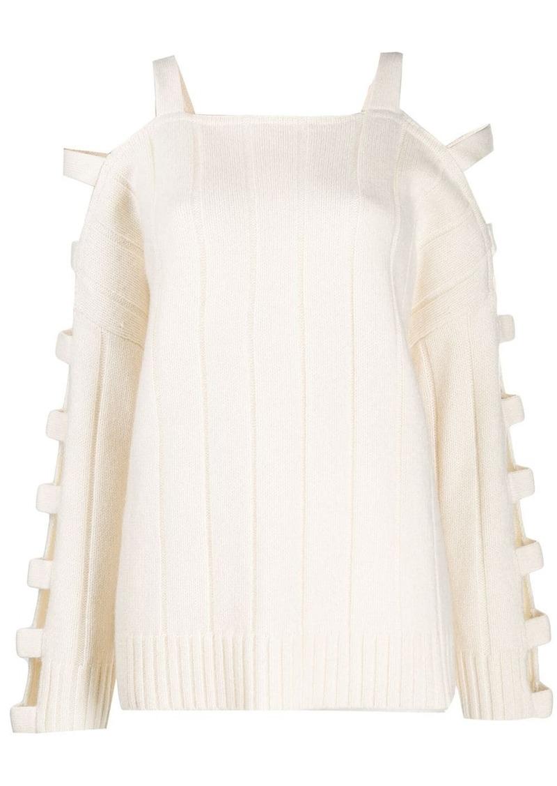 McQ Alexander McQueen cut-out sleeve jumper