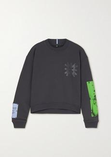 McQ Alexander McQueen Dance Appliqued Printed Cotton-jersey Sweatshirt