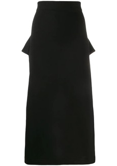 McQ Alexander McQueen deconstructed straight skirt
