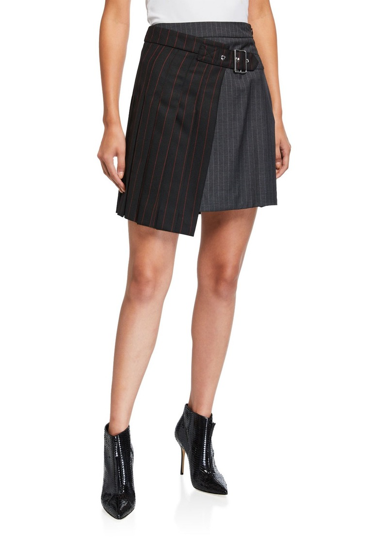 McQ Alexander McQueen Deconstructed Two-Tone Kilt Skirt