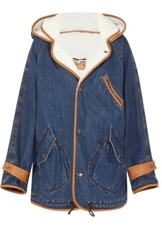 McQ Alexander McQueen Denim And Faux-shearling Jacket
