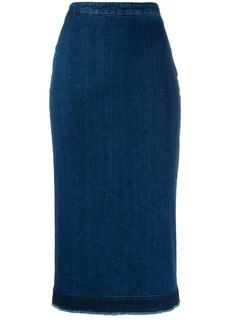 McQ Alexander McQueen denim pencil skirt