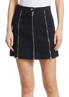 McQ Alexander McQueen Denim Zips Mini Skirt