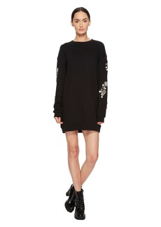 McQ Alexander McQueen Diamante Slouch Dress