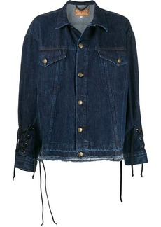McQ Alexander McQueen drawstrings denim jacket