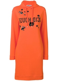 McQ Alexander McQueen embellished hoodie dress