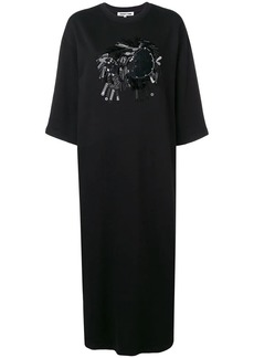 McQ Alexander McQueen embellished jersey dress