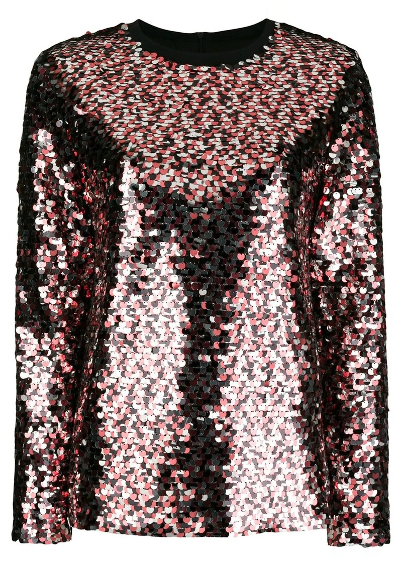 McQ Alexander McQueen embellished long-sleeve blouse