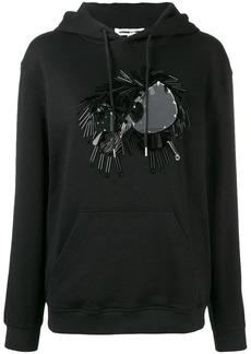 McQ Alexander McQueen embellished monster hoodie
