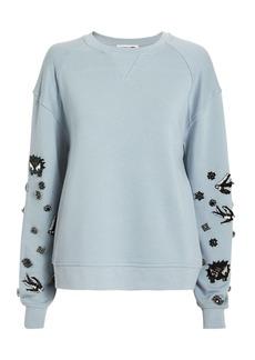 McQ Alexander McQueen Embellished Sleeve Sweatshirt