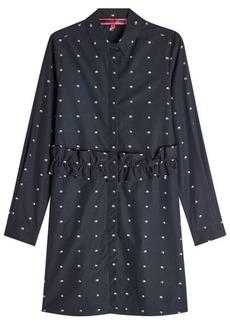 McQ Alexander McQueen Embroidered Cotton Shirt Dress