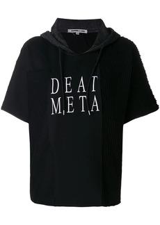McQ Alexander McQueen embroidered death metal hoodie