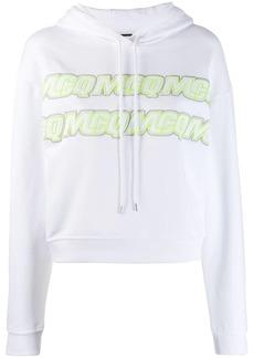 McQ Alexander McQueen embroidered logo hoodie
