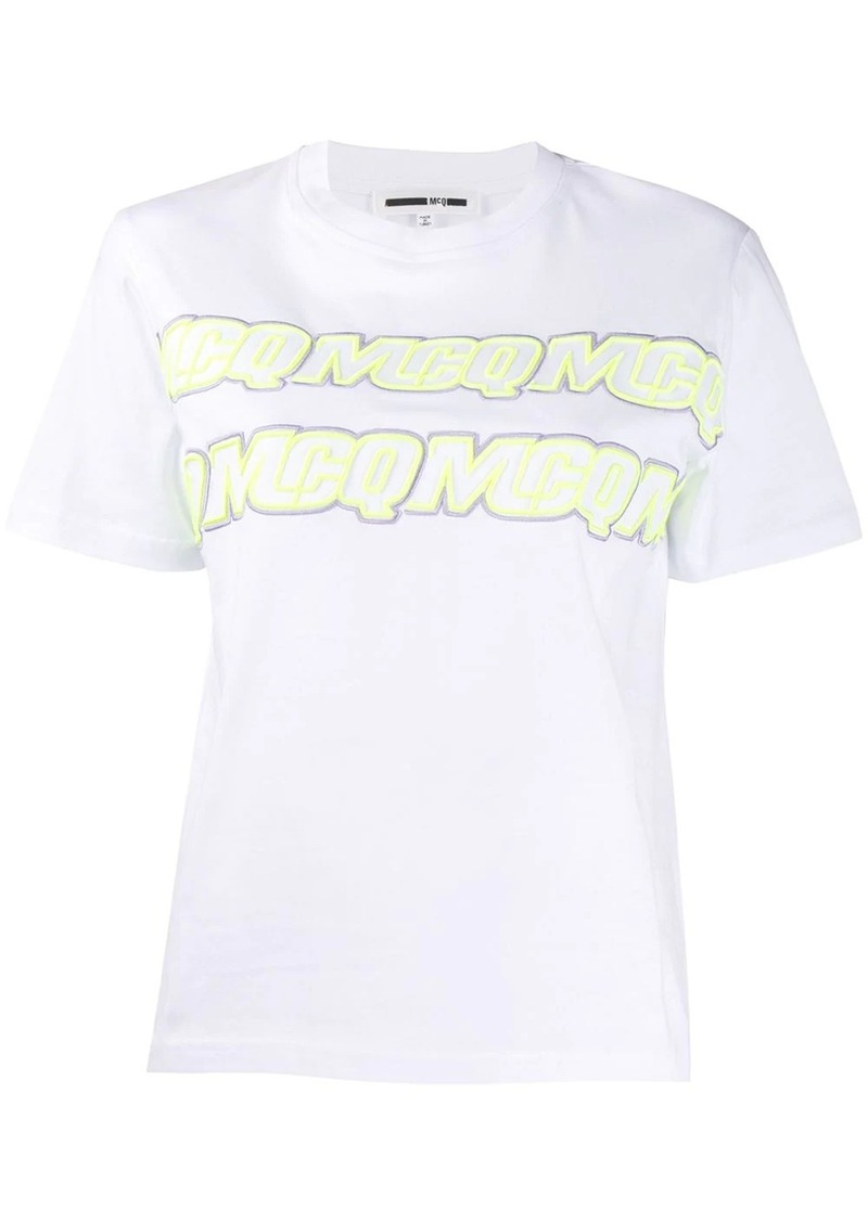 McQ Alexander McQueen embroidered logo T-shirt