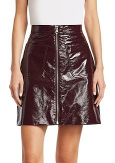 McQ Alexander McQueen Faux Patent Mini Skirt