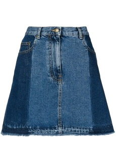 McQ Alexander McQueen flared denim skirt