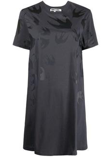 McQ Alexander McQueen flared swallow-print T-shirt dress
