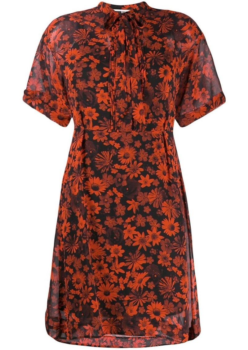 McQ Alexander McQueen floral print dress