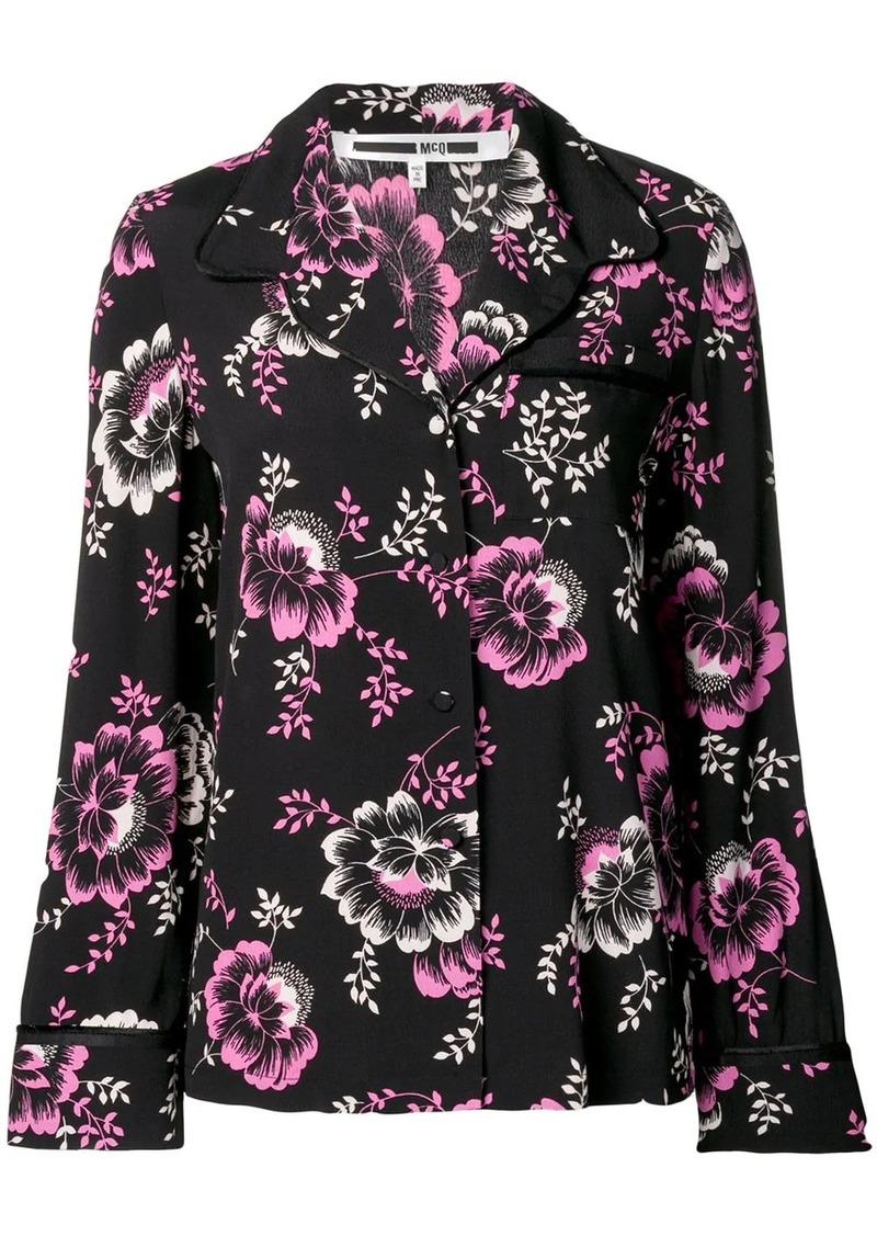 McQ Alexander McQueen floral print lounge shirt