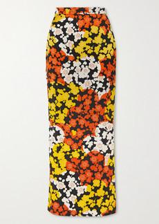 McQ Alexander McQueen Floral-print Silk-crepe Maxi Skirt