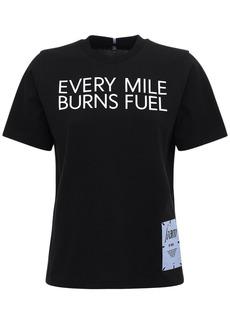 McQ Alexander McQueen Foam Printed Cotton Jersey T-shirt