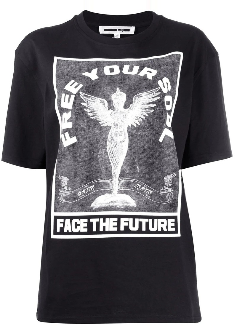 McQ Alexander McQueen 'Free your soul' printed T-shirt